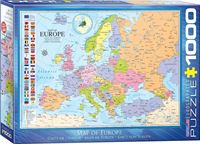 Eurographics Puzzel kaart van Europa