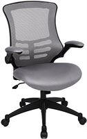 Songmics Obn81G Bureaustoel, Polyester, Grijs, Belastbaar tot 150 Kg