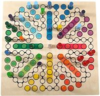 HESS Bordspel, Houten Speelgoed, voor 8 Personen, Meerkleurig