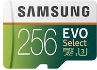 Samsung Evo Select MicroSDXC UHS-I Geheugenkaart Incl. SD-Adapter, 256GB
