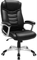 Songmics Ergonomische bureaustoel, in hoogte verstelbare draaistoel, robuust, stabiel en duurzaam, zwart, OBG21B