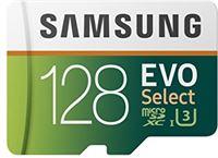 Samsung Evo Select MicroSDXC UHS-I U1 Full HD Geheugenkaart Incl. SD-Adapter, 128 GB