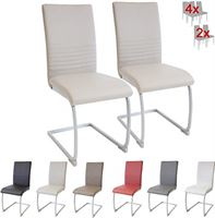 albatros cantilever stoel MURANO SET van 2, beige, SGS-gekeurd, elegante eetkamerstoelen/cantilever stoelen, comfortabel gestoffeerd