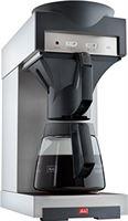Melitta Professional Melitta koffiezetapparaat met glazen kan, 1,8 l, warmhoudplaat, 17 m, roestvrij staal/zwart