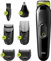 Braun All-in-one MGK3221 6-in-1 Baardtrimmer Voor Mannen, Gezichts-, Haar-, Oor-, Neustrimmer, Voltgroen