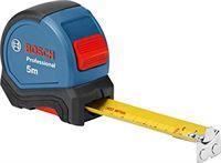 Bosch Professional rolmaat 5 m (eenhandbediening, riemklem, magneethaak, 2 stoptoetsen, 27-mm-nylon-staalband)