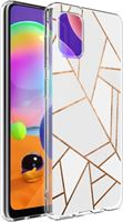 imoshion voor de Samsung Galaxy A31 hoesje - Grafisch Koper - Wit / Goud