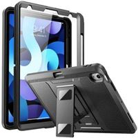 qMust Apple iPad Air 4 2020 Hoes Heavy Duty Case Zwart zwart