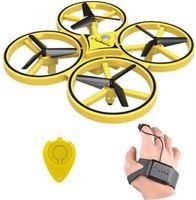 Stuff Certified ZF04 Drone met Handbediening - Mini RC Pocket Quadcopter Speelgoed Geel