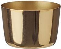 HEMA Sfeerlichthouder - 5.6 X Ø 8 Cm - Goud (goud)