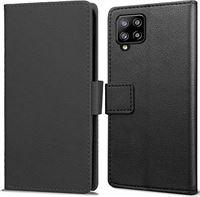 qMust Samsung Galaxy A42 Wallet Hoesje Zwart zwart