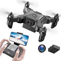 Stuff Certified 4D-V2 Mini RC Drone met Camera - Pocket Quadcopter Speelgoed met Gyro Stabilistatie Zwart