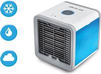 Livington Arctic Air – mobiele Airco / Aircooler met waterverdampingsfilter – mini ventilator met 3 koelniveaus en 7 moodlights – luchtkoeler met tankvolume voor 8 uur koeling