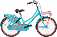 Popal Daily Dutch Basic Kinderfiets - 22 inch - Turquoise/Roze