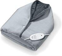 Beurer CC 50 Cosy warmtecape, zachte elektrische deken die u om u heen kunt slaan, met 6 temperatuurstanden en automatische uitschakelfunctie, machinewasbaar