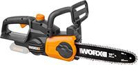 Worx WG322E.9 Accu-kettingzaag, 20 V, handige houtzaag voor gebruik in tuin en voor bouwwerkzaamheden, met 25 cm snijlengte en automatische kettingspanning.