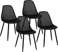 Fromm & Starck Stoel - set van 4 - tot 150 kg - zitting 52 x 46.5 cm - zwart