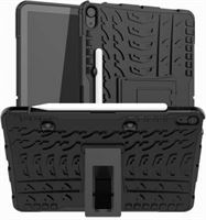 qMust Apple iPad Air 4 2020 Hoes Rugged Hybrid Case Zwart zwart