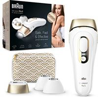 Braun Silk-Expert Pro 5 PL5137MN Epilator voor pulsatin en permanente ontharing zichtbaar haar, wit/goud, met luxe etui, Venus scheerapparaat, twee standaard koppen en twee precisiekoppen