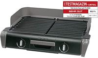 Tefal Family TG8000 Elektrische barbecue, voor binnen en buiten, twee afzonderlijke grillroosters met traploze thermostaten, individueel regelbaar, vaatwasmachinebestendig, 2400 W