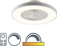 QAZQA Plafondventilator wit met stereffect dimbaar - Climo