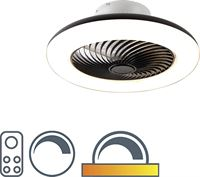 QAZQA Design plafondventilator zwart dimbaar - Clima