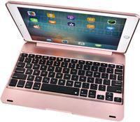 Stuff Certified Toetsenbord Hoes voor iPad Mini 4/5 - QWERTY Multifunctionele Keyboard Bluetooth Smart Cover Case Hoesje Roze