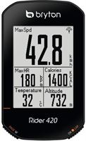 Bryton Rider 420 H Bike Computer with Heart Rate Monitor, black