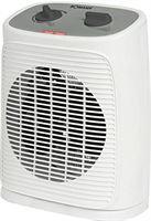 Bomann HL 6041 CB, mobiele en compacte ventilatorkachel, 2 warmtestanden (1000/2000 W), oscillerend (uitschakelbaar), koude stand (ventilator), wit