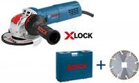 Bosch GWX 9-125 S X-LOCK Haakse slijper in koffer - 900W - 125mm - variabel