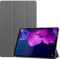 qMust Smart Tri-Fold Lenovo Tab P11 Pro Hoes - Grijs grijs