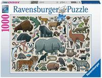 Ravensburger Wilde Dieren Puzzel (1000 stukjes)