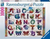 Ravensburger puzzel Drakenalfabet - Legpuzzel - 1000 stukjes