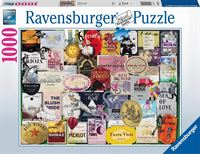 Ravensburger puzzel Wijnlabels