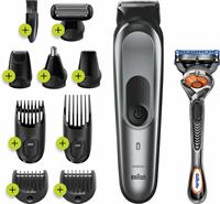 Braun MGK7221 10-in-1 Trimmer, Baardtrimmer Voor Mannen, Bodygroomer En Haartrimmer, Donkergrijs