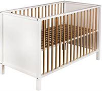 Quax ledikant Nordic 120x60 cm - white & naturel
