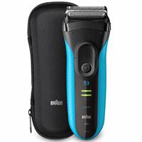 Braun S3 ProSkin 3045s Elektrisch Scheerapparaat, Zwart/Blauw - Oplaadbaar Scheerapparaat