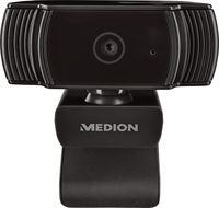 Medion LIFE P86366 webcam | FHD videoresolutie met 30 fps | Microfoon | Fotomodus | Autofocus inclusief belichtingsregeling | Flexibel verstelbaar | Plug & Play