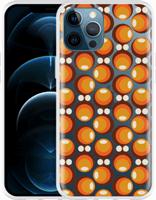 Just in Case Apple iPhone 12 Pro Max Hoesje 70s Oranje 70s Oranje