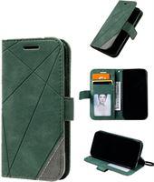 JVS Products Galaxy A51 Hoesje Bookcase - Leer - Portemonnee - Book Case - Wallet - Flip Cover - Samsung Galaxy A51 - Groen