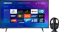 Medion BundelDEAL ! LIFE® P14327 43 inch Smart-TV & E62003 Koptelefoon