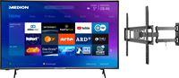 Medion BundelDEAL ! LIFE® P14327 43 inch Ultra HD-TV & GOOBAY Basic FULLMOTION (L) Muurbevestiging Tot 70 inch