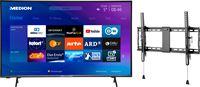 Medion BundelDEAL ! LIFE® P14327 43 Smart-TV & GOOBAY Pro TILT (L) Muurbevestiging (tot 70 Inch)