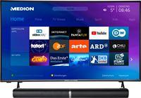 Medion BundelDEAL ! LIFE® P14327 43 inch Smart-TV & P61202 Bluetooth Soundbar