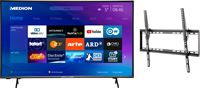 Medion BundelDEAL ! LIFE® P14327 43 inch Smart-TV & GOOBAY Basic TILT (L) Muurbevestiging (tot 70 Inch)