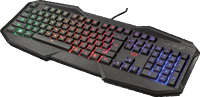 Trust GXT 830 Avonn - Gaming Toetsenbord - Qwerty - Zwart