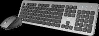 Trust Raza - Draadloze Stille Deskset - Keyboard en Muis QWERTY