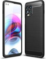 qMust Rugged TPU hoesje voor Xiaomi Redmi Note 10 4G / Note 10S - zwart