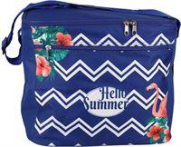 Gerimport Koeltas Hello Summer 31,5 Cm 18 Liter Polyester Blauw