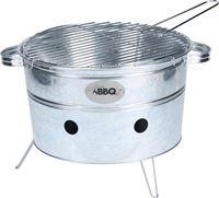BBQ Draagbare Barbecue Rond Zwart Staal 38 X 20 Cm